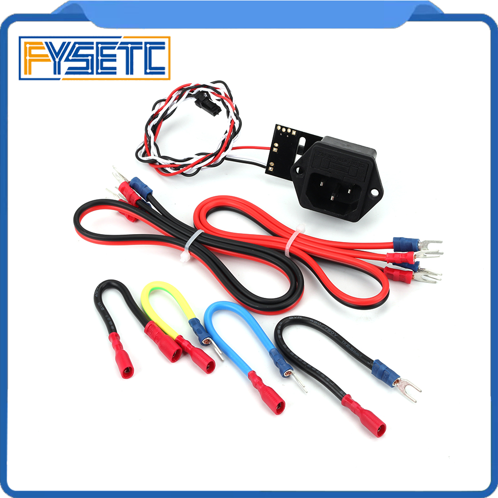 Prusa I3 MK3 Power Panic V0.4 High Voltage With Fuse Switch MK3 PSU Wiring Harness Kit Wire For Prusa I3 MK3 3D Printer Parts