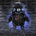 1 шт.  Космический космический корабль  виниловая запись  настенные часы  современный дизайн  креативный ракетный корабль  домашний декор  де...