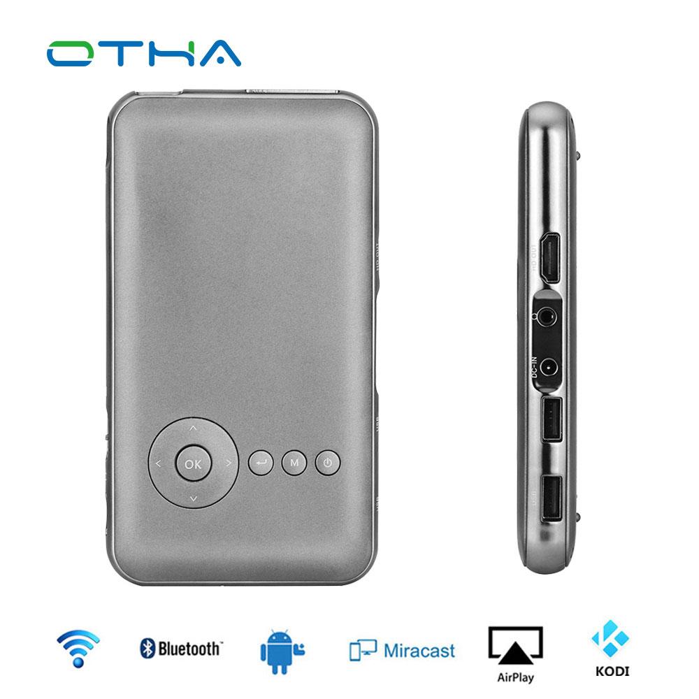 Prix pour Mini Projecteur DLP Wifi Portable Smartphone Proyector Android Bluetooth 8 GB/16 GB/32 GB Full HD Vidéo projecteur Home Cinéma