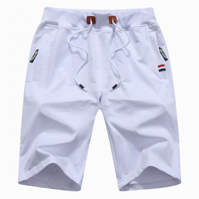 Solid Casual White Off Shorts Men Cargo  Plus Size  Beach Shorts 5XL Sport Pants, Five-cent Cross-country Shorts шорты мужские