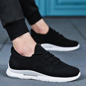 Image 2 - Weweya hafif rahat ayakkabılar erkek örgü kaliteli spor ayakkabı erkekler nefes Tenis Lace Up erkek ayakkabısı açık yürüyüş ayakkabısı