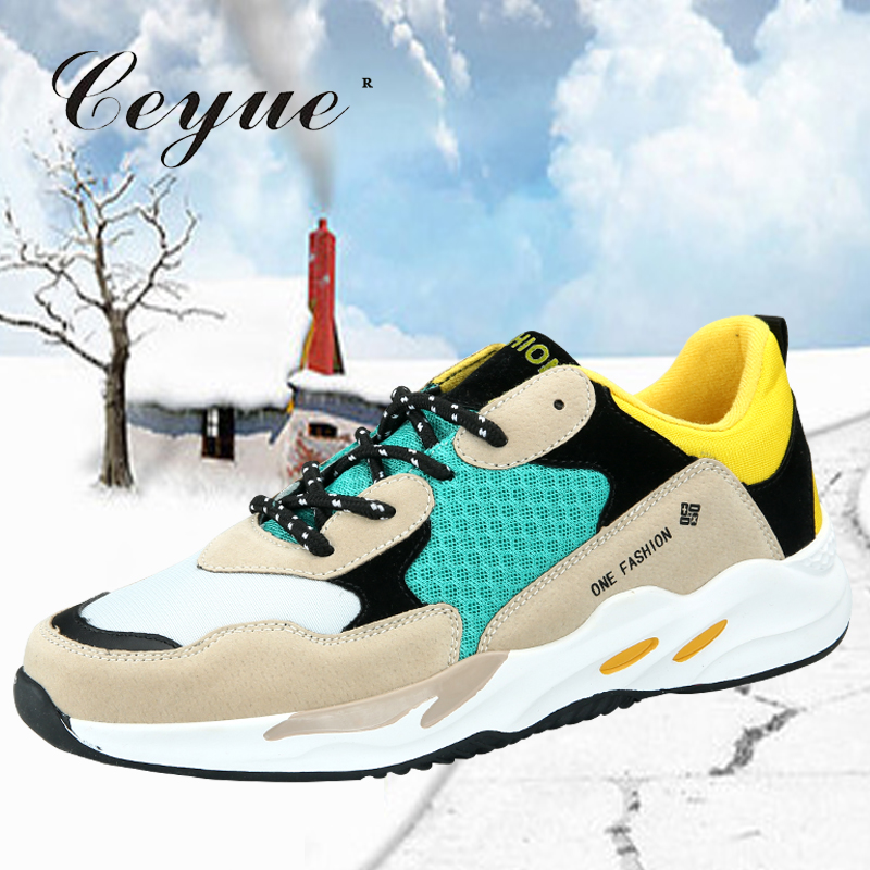 Ceyue 2019 Men Running Shoes Balanciaga Mesh Breathable Sports Sneakers Chaussures de sport pour hommes Super star Sneakers
