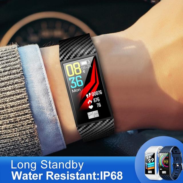 KSUN KS58 pulsera inteligente banda con Monitor de ritmo cardíaco ECG presión arterial IP68 Fitness Tracker Wrisatband reloj inteligente