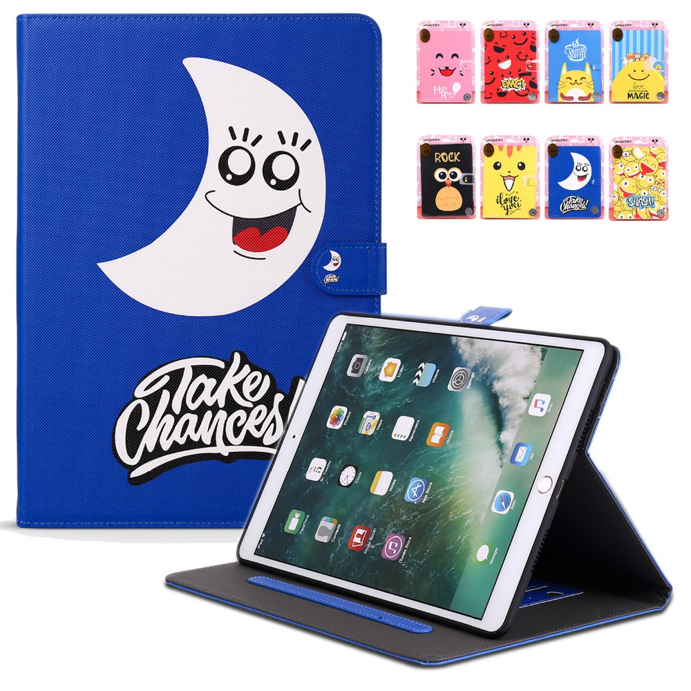 For iPad Pro 10.5 Case PU Leather Cute Kid Smart Cover Kickstand Auto Sleep/Wake up For Apple iPad Pro 10. 5 inch 2017 Coque luckbuy case for ipad pro 10 5 cute painted designs pu leather smart cover folio stand casual style case for ipad pro 10 5