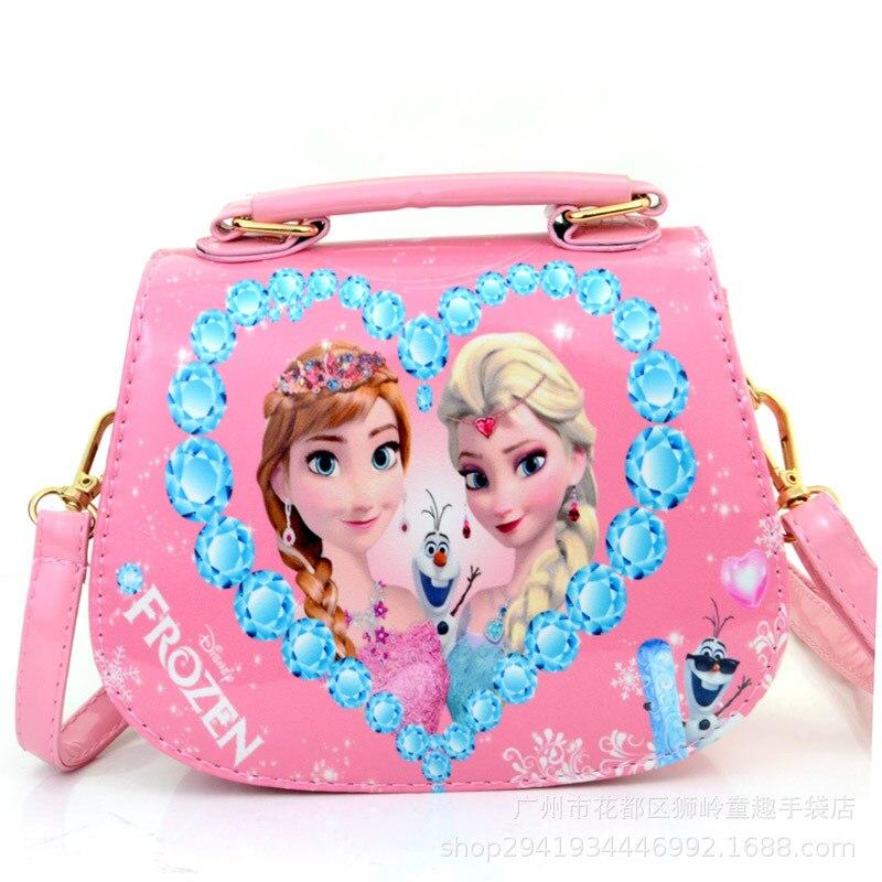Kinder- & Babytaschen Crossbody-taschen Neue Mode Elsa Und Anna Prinzessin Mädchen Kindergarten Mini Pu Messenger Taschen Kinder Umhängetasche Für Kinder