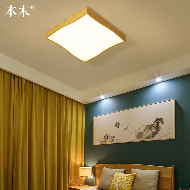Us 108 09 Japanese Style Delicate Crafts Wooden Frame Ceiling Light Led Ceiling Lights Luminarias Para Sala Dimming Led Ceiling Lamp In Ceiling