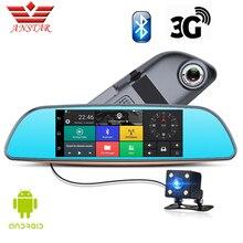 Anstar 3 г/Wi-Fi Android автомобильный видеорегистратор Двойной объектив Камера FHD 1080 P регистраторы видео Регистраторы зеркало заднего вида GPS навигации автомобиль dashcam