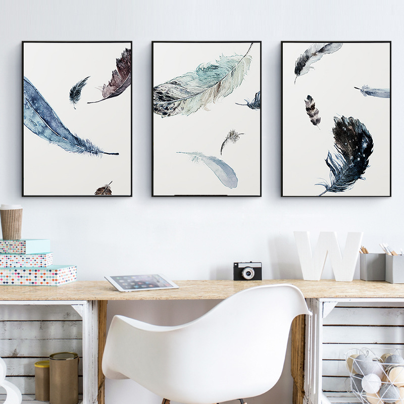 Feather Wall Art popular white feather wall art-buy cheap white feather wall art