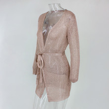 efe519a517b70 Buy gold metallic knitted dress and get free shipping on AliExpress.com