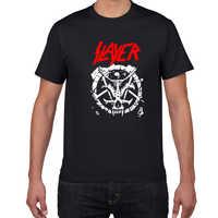 Camiseta masculina da banda do metal a slayer 100% algodão streetwear t camisa masculina do punk roupas de verão legal camiseta homme rock pop tshirt
