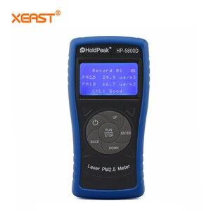 Holdpeak 5800D PM2.5/PM10 analisador de Monitor de Detector de gás portátil com Backlight e Desligamento automático para Testes Ambientais