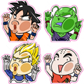 4 Pieces/Set 6cm Dragon Ball Z Stickers - Super Saiyan Picco Luggage Sticker Reusable Dragonball Fixed Gear Car Sticker