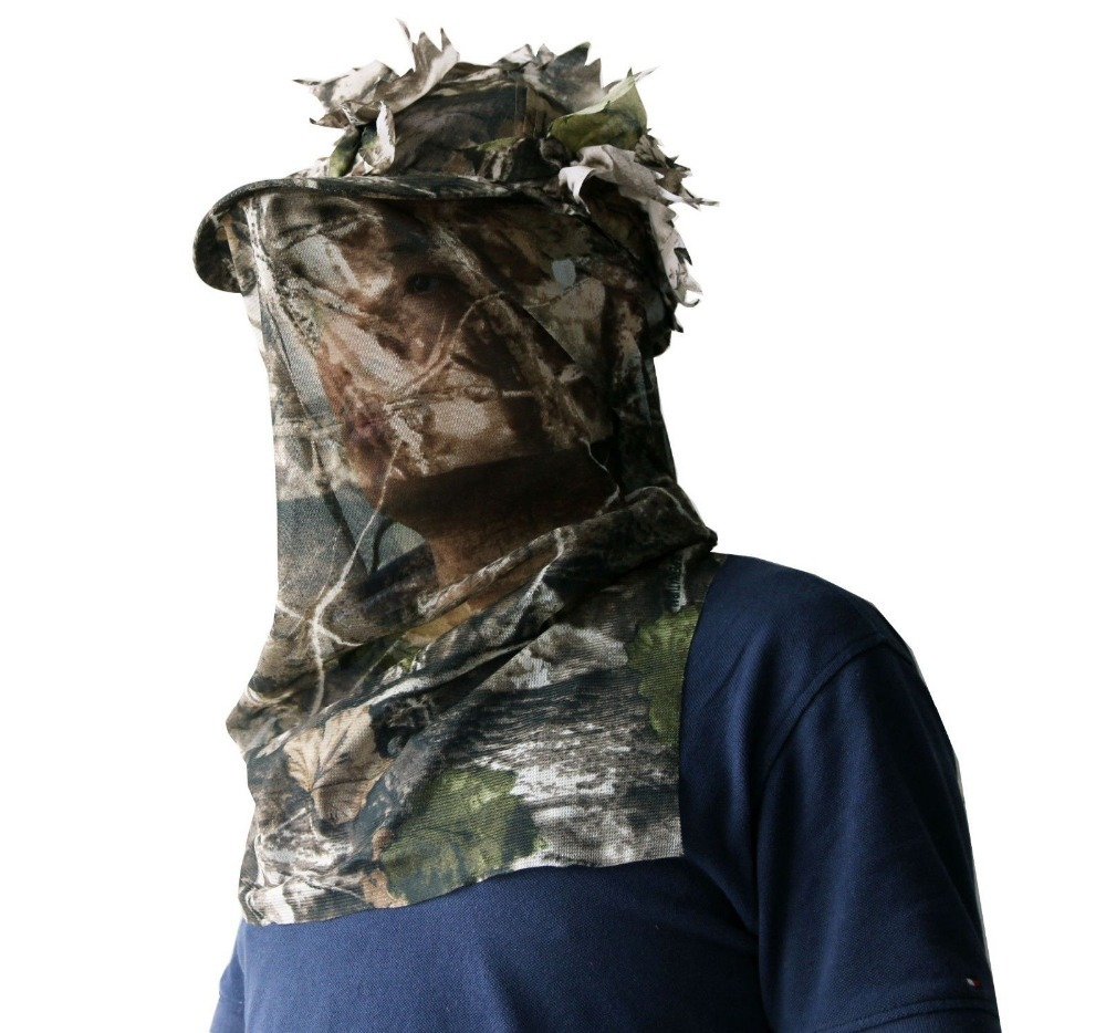 3D Sneaky Cap + Facemask Shooting Hunting stalking one size Woodland cap/hat3D Sneaky Cap + Facemask Shooting Hunting stalking one size Woodland cap/hat