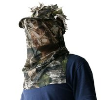 3D Sneaky Cap + Facemask Schieten Jacht stalking one size Woodland cap/hoed(China)