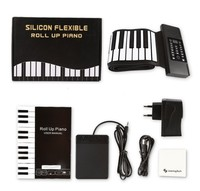 88 key Fold Silicone Gel Hand Roll Piano Electronic Organ Thickening Hand Roll Piano Chord Version Wholesale Violin Piano