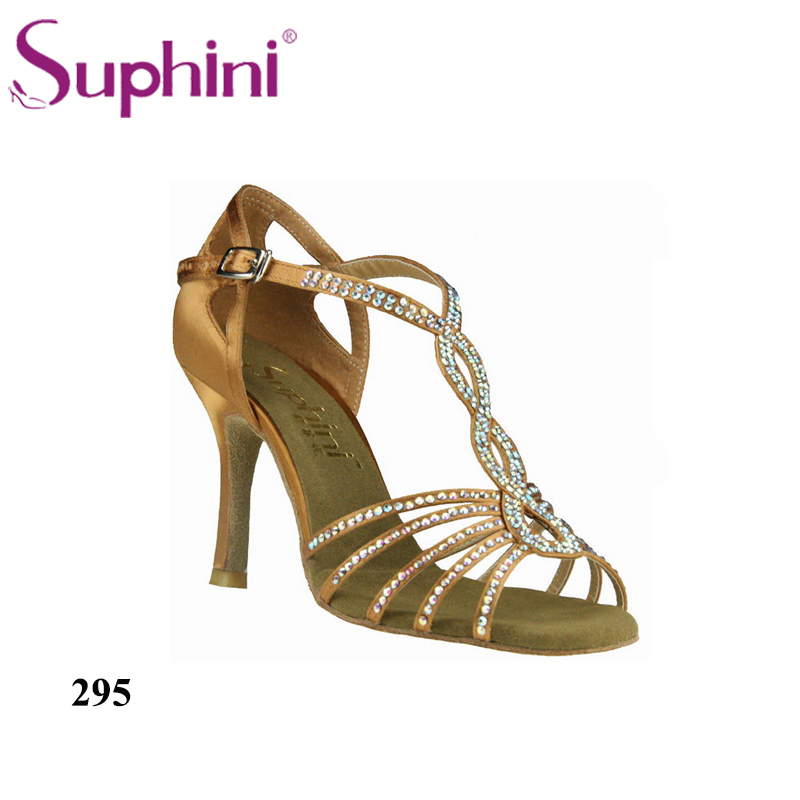 zapatos de baile latino Free Shipping Suphini High Heel Diamond Latin Dance Shoes цена