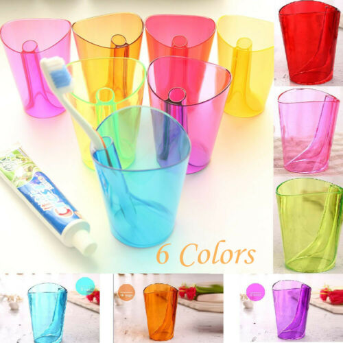 Candy Bathroom transparent toothbrush holder Gargle Cup Couple Tooth Mugs Smart