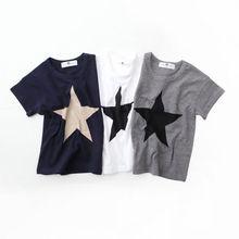 Summer Casual kids Comfortable Clothes Start Print T-shirts Kids Cotton Boys Girls T Shirt
