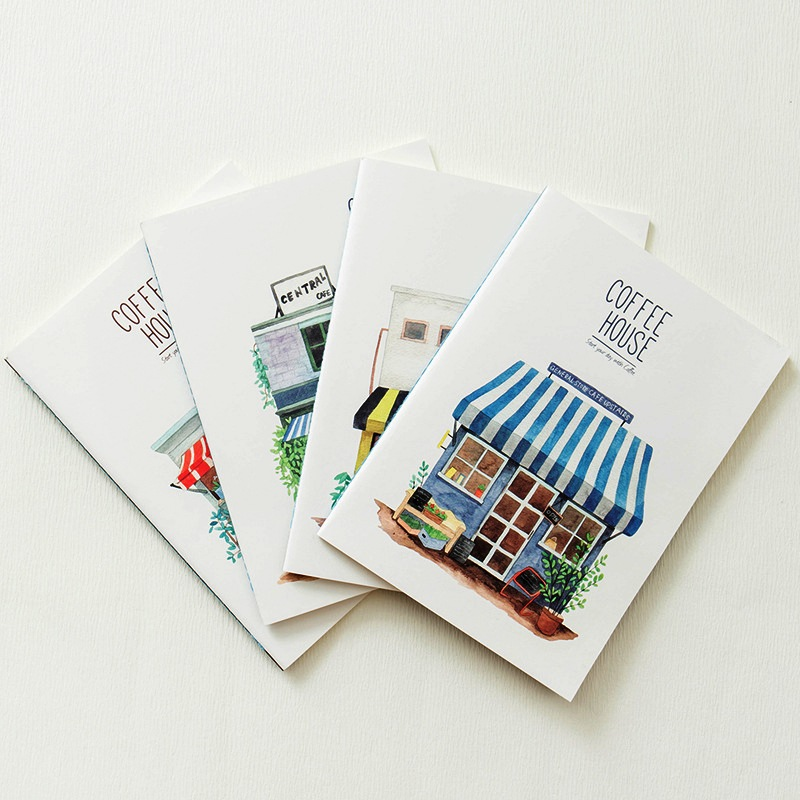 Coffee House Big Exercise Book Pack of 4 Lined Notebook Diary Study Planner Composition Book maisy s big flap book