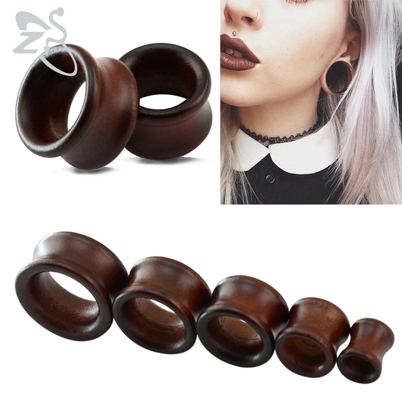 2 Pcs/lot Fashionable Wood Ear Tunnel Stretcher Plugs Piercing Expander 8-22mm Body Jewelry Ear Plugs Make In China sock