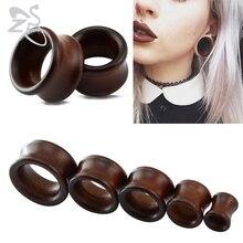 цена на 2 Pcs/lot Fashionable Wood Ear Tunnel Stretcher Plugs Piercing Expander 8-22mm Body Jewelry Ear Plugs Make In China