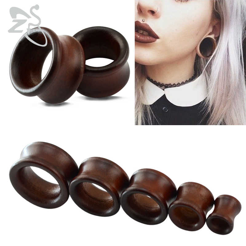 e880020e0 8-25mm Plugs and Tunnels Big Size Ear Tunnel Earrings Ear Stretcher Wood  Expander Men