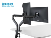Dual Arm Monitor Mount Desk Stand,Fully Adjustable Aluminum Monitor Holder Gas Spring Monitor TV Mounting for 17 32'' OZ 2