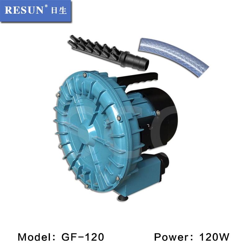 120 واط 190L/دقيقة resun GF 120 ارتفاع ضغط كهربائية توربو منفاخ الهواء الحوض المأكولات الهواء ضاغط الهواء كوي بركة مهوية مضخة-في فلاتر وملحقات من المنزل والحديقة على  مجموعة 1