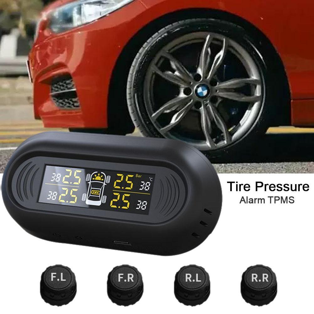 CR1632 Mini Windshield Wireless Digital Gauge Car TPMS Solar Power 0 101PSI Tire Pressure Monitoring System