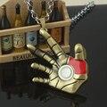 Мужская последний фильм окружающих palm finger нержавеющей стали 316L детали Железный Человек ожерелье кулон ожерелье оптовая