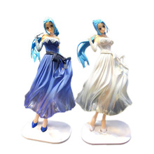 Anime One Piece Wedding Dress Nefeltari Vivi PVC Action Figure Doll Collectible Model Baby Toy Christmas Gift For Children [funny] original box 28cm game over watch azrael black death reaper ripper action figure collectible model doll toy kids gift