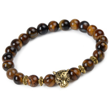 Unisex Tiger Eye Bracelet with Natural Stones