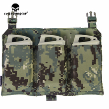 emersongear Emerson 556 Triple Mag Pouch Panel Tactical Mag Pouch for 419 420 Vest AOR2 недорого