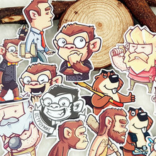 21pcs bag Man and Nature Monkey Orangutan album Scrapbook waterproof decoration stickers DIY Handmade Gift Scrapbooking sticker cheap Paper 3 cm
