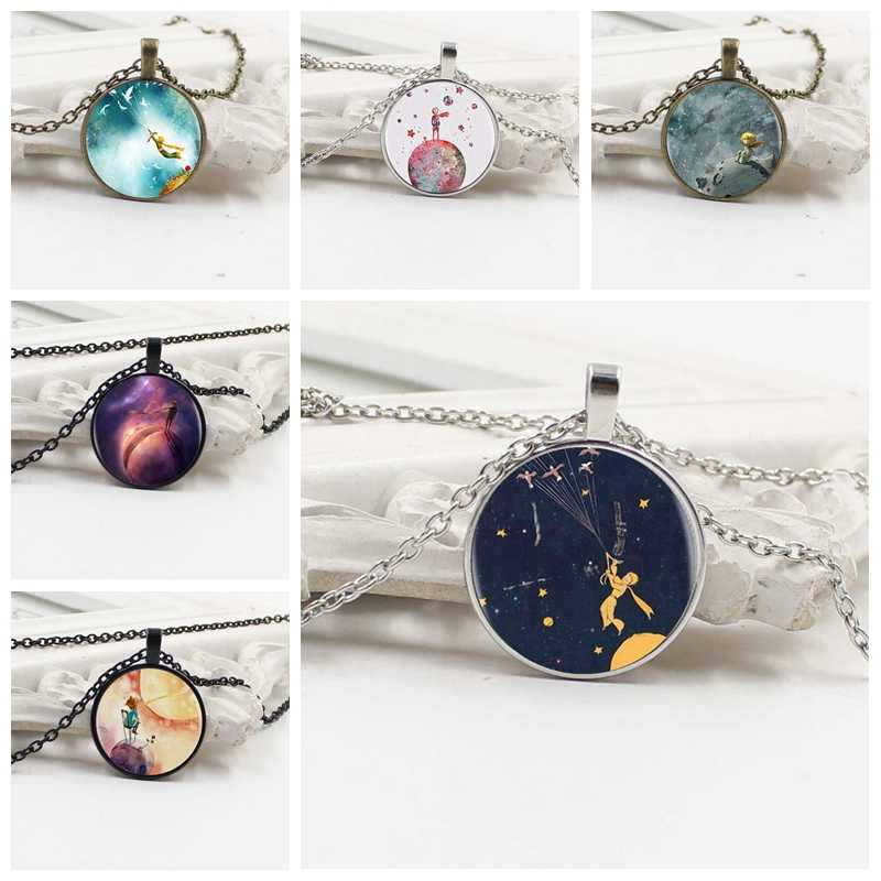 Little prince pendant statement handmade fashion dome glass round convex charm jewelry women's clothing