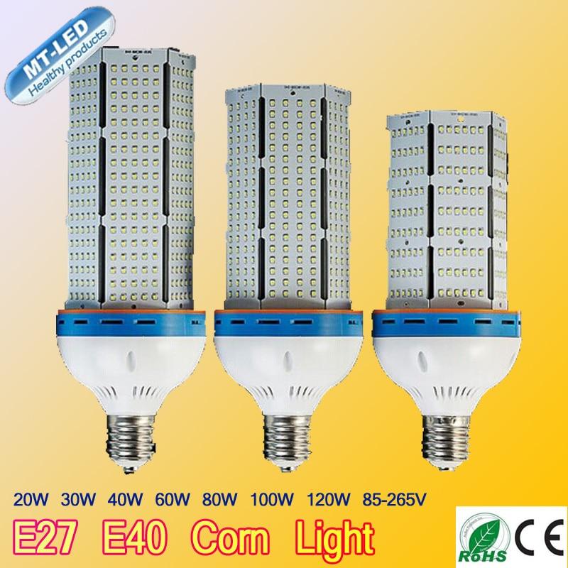 ФОТО 4pcs 100W 120W 110-240V SMD 2835 chip Led High-end corn lamp with fan E27 E40 360 beam angle led lightcorn lamp FREE SHIPPING