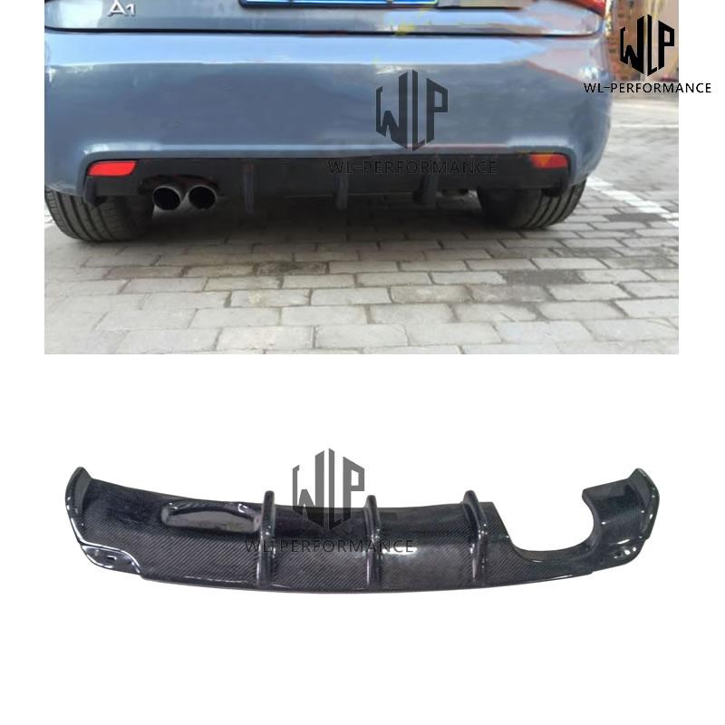 A1 MTM style Carben Fiber Rear Lip Diffuser Car Styling For Audi A1 Back Bumper Car Body Kit 2013-2016