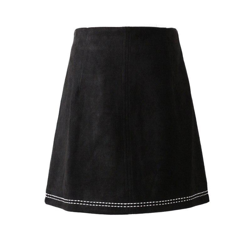 A Patch allumette Sexy Daim Noir Ab20 Haute Fermeture ligne En Mode Courte Femmes Taille Travail Pu 2018 Éclair De Tout Spliced Jupe f4wTxqYqB