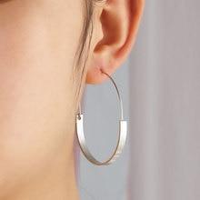 Fashion OL Semi-circle Circle Gold Silver Geometry Earrings Personal Exaggeration Earring Woman fashion jewelry ornaments
