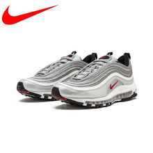 Original Nike Air Max 97 OG QS 2017 RELEASE Men's Running Shoes,Official New Arrival Genuine Breathable Outdoor Sports Shoes