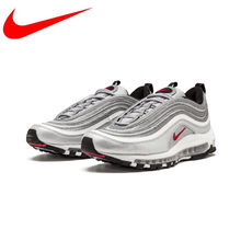 Original Nike Air Max 97 OG QS 2017 RELEASE Men's Running Shoes,Official New Arrival Genuine Breathable Outdoor Sports Shoes(China)