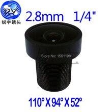 2pcs/lot, 2.8mm CCTV Camera Megapixel MTV IR CCTV Lens 1/4″ M12 mount 650ir filter