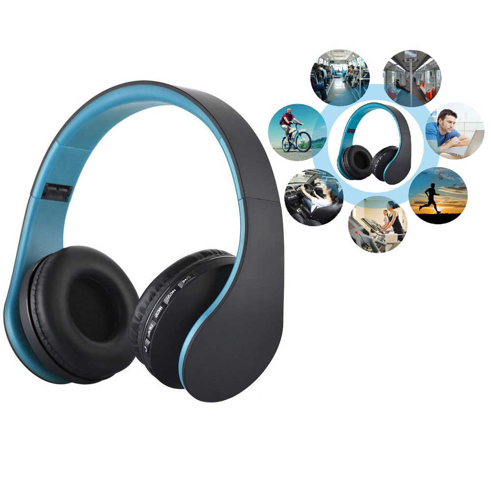 Bluetooth Casque Wireless Headphone Stereo Handsfree Headfone Casque Bluetooth Headset Earphone Cordless For Computer Pc Aux Head Phone Hot