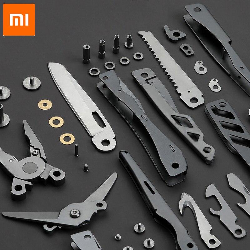Xiaomi Mijia huohou multi-fonction poche couteau pliant 420J2 acier inoxydable Long nez pinces coupe corde couteau cadeau pour hommes