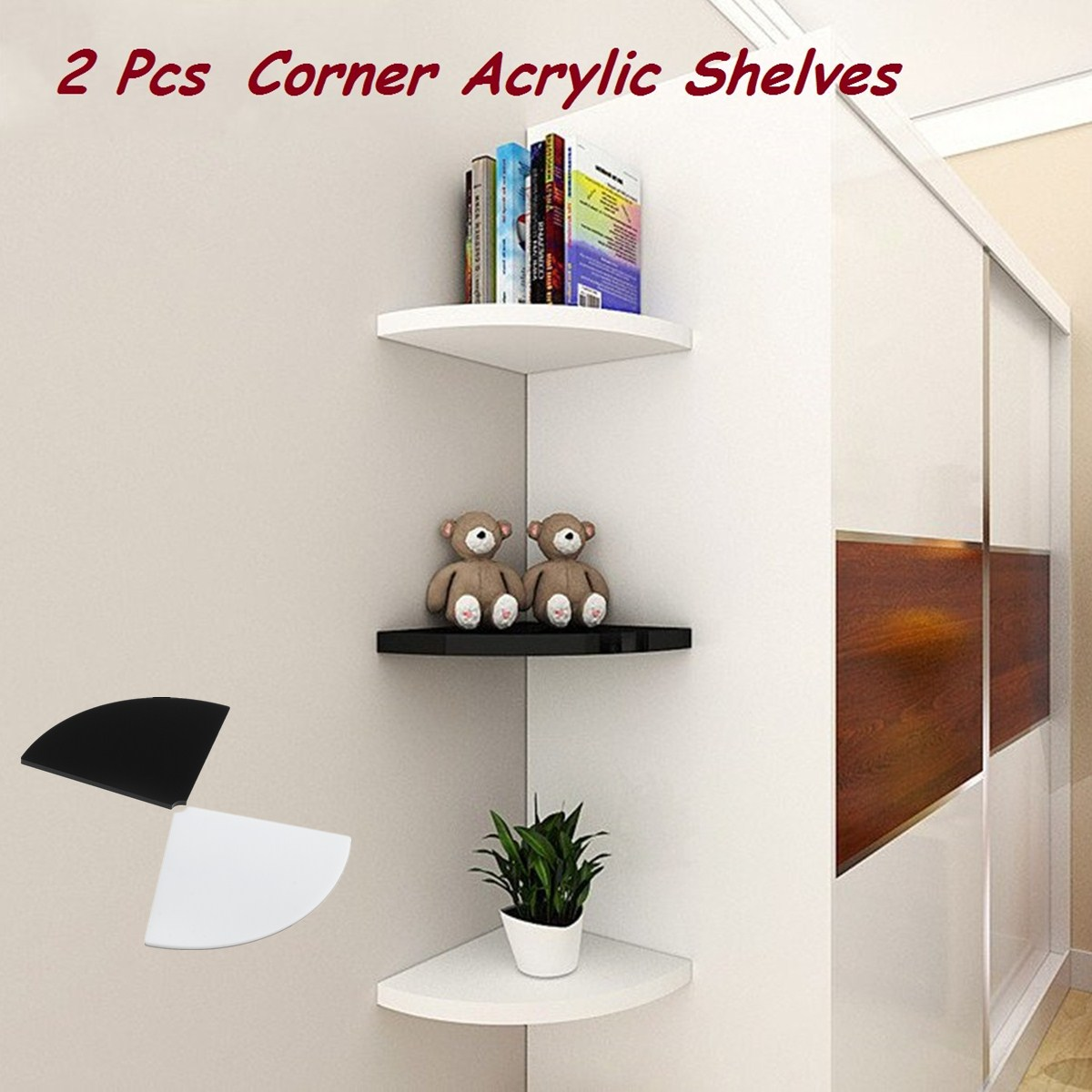 acrylic corner shelf