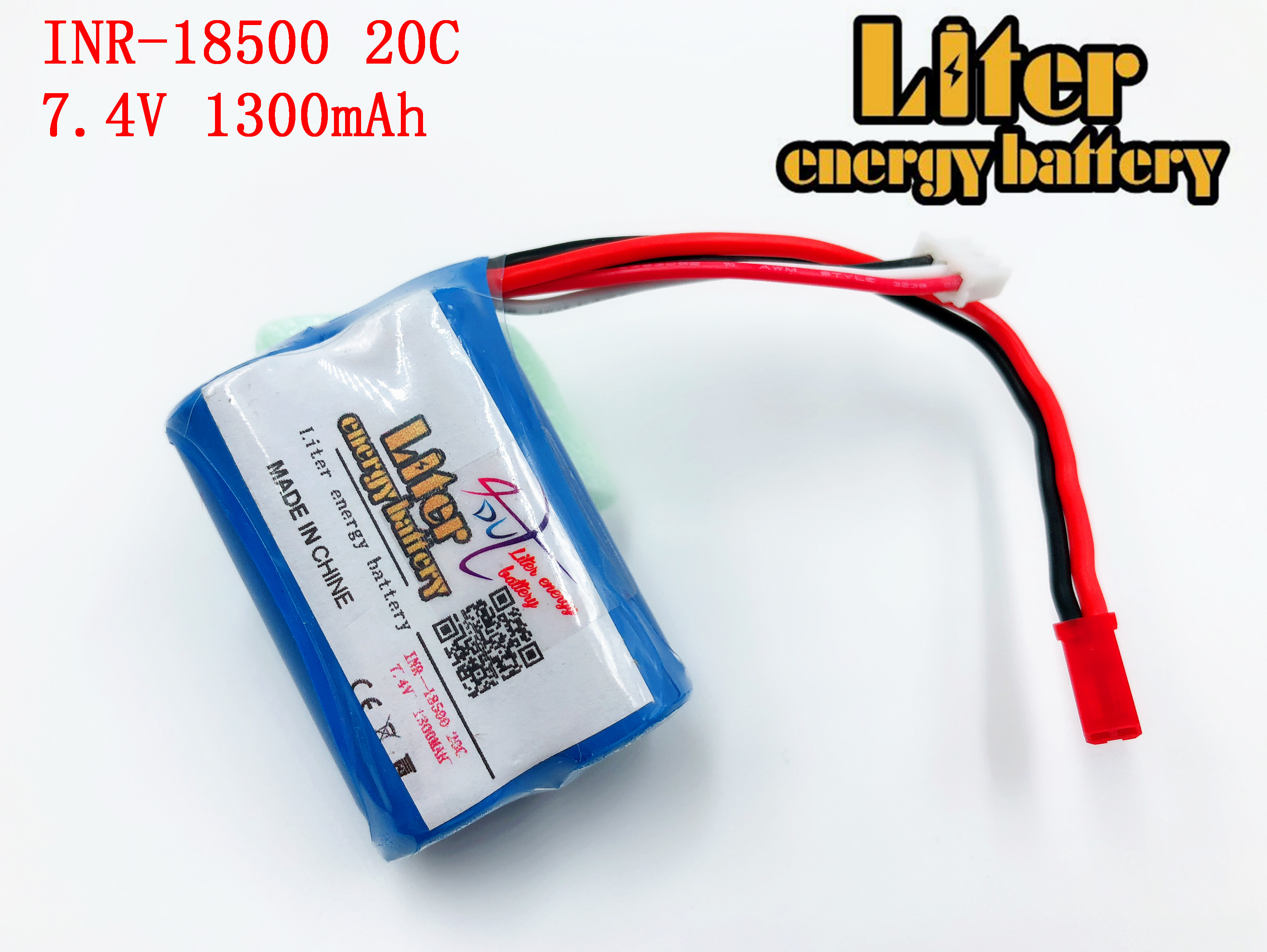Liter energy battery 7.4V 1300mah 20C 18500 emote control helicopter power lithium battery rechargeable battery pack image
