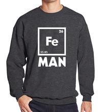 Funny Chemistry Superhero Shirt Fe Periodic Table 2017 spring winter hoody men sweatshirrt fashion casual sportsman wear hip hop