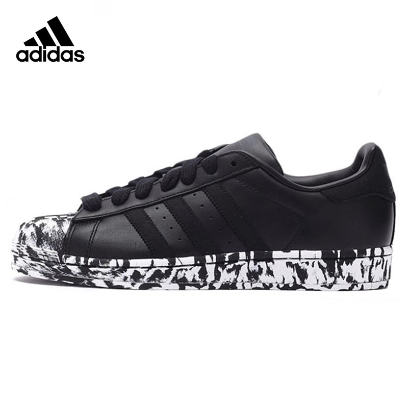 Adidas Clover Superstar Men's Walking Shoes,Outdoor Sneakers Shoes, Black & White,Wear-resistant Breathable Lightweight AQ4659 adidas clover gazelle men s and women s walking shoes pink breathable wear resistant lightweight non slip bb5264