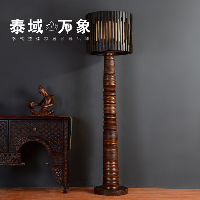 Dorable wood torchiere floor lamp photo best home decorating ideas thailand wood carving wood floor lamp in southeast asia living room aloadofball Image collections