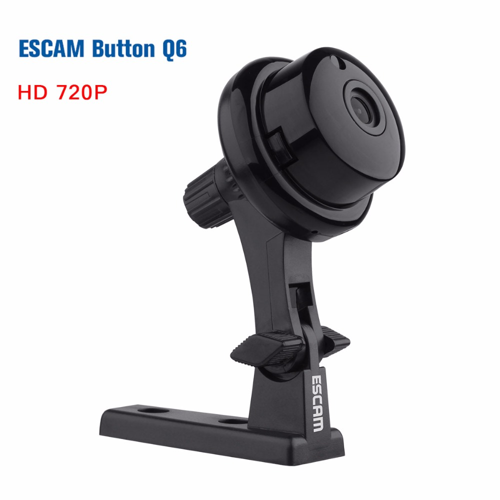 ESCAM Q6 HD 720P IP Wifi Wireless Mini Camera ONVIF Network Audio Home Security Indoor Cameras Night Vision 3.6mm WI-FI IP Cam escam qf002 hd 720p cctv wifi wireless ip camera night vision network ip cam wi fi home security camera de deguridad ip cameras
